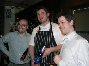 Galvin Beer-Cider dinner-hosts - Andrea, Jack, Mitch
