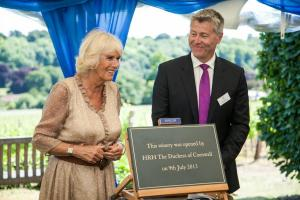 HRH and Ian Kellett, Hambledon