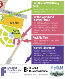 Sheffield Food Festival map