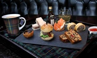 """manly"" afternoon tea with Glengoyne whisky"